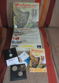 Photo of packaging of Athanor: The Legend of the Birdmen