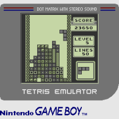 Screenshot of GB Tetris Emulator